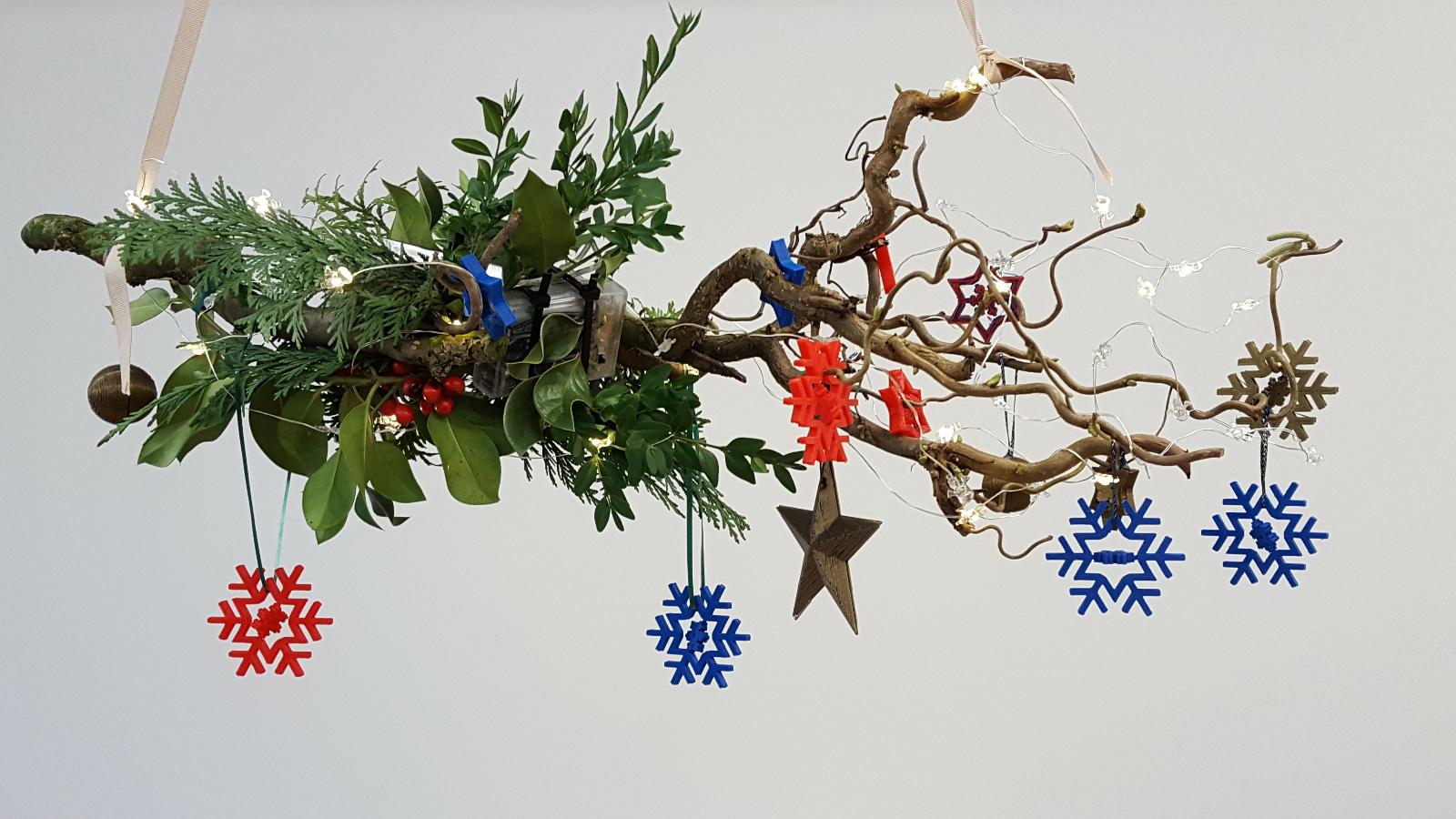 Weihnachtszweig 3D-Sterne